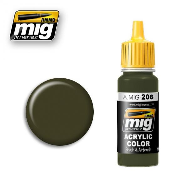 AMMO: Acrylic Paint - FS 34079 (BS 641) Federal Standard Dark Green (17ml)