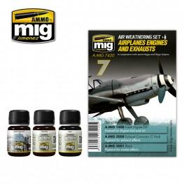 AMMO: Airplane Weathering - Airplanes, Engines and Exhausts Set