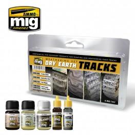 AMMO: Weathering - Dry Earth Tracks Set