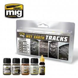 AMMO: Weathering - Wet Earth Tracks Set