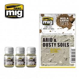 AMMO: Weathering - Arid & Dusty Soils Set