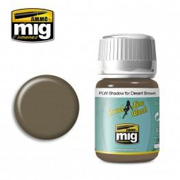 AMMO: Panel Line Wash - Shadow for Desert Brown (35ml)