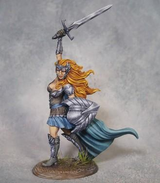 Visions In Fantasy: Female Warrior with Sword and Shield (2018)
