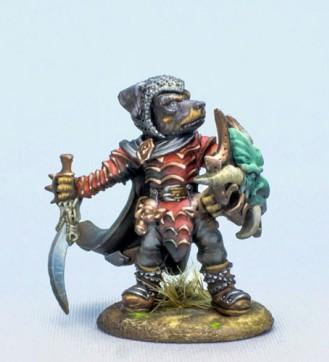 Critter Kingdoms: Rottweiler Warrior with Sword and Shield