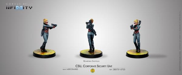 Infinity (#723) Mercs: CSU, Corporate Security Unit (Boarding Shotgun) (1)