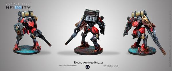 Infinity (#726) Combined Army: Raicho Armored Brigade (1)