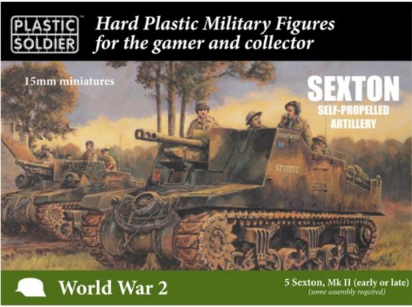 15mm WWII: Sexton Self Propelled Gun (5)