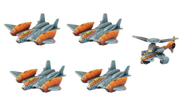 Monsterpocalypse: Strike Fighters & Rocket Chopper - Protector G.U.A.R.D. Unit (resin)