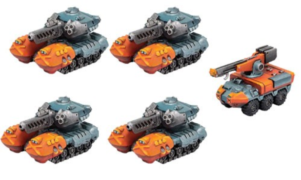 Monsterpocalypse: G-Tanks & Repair Truck - Protector G.U.A.R.D. Unit (resin)