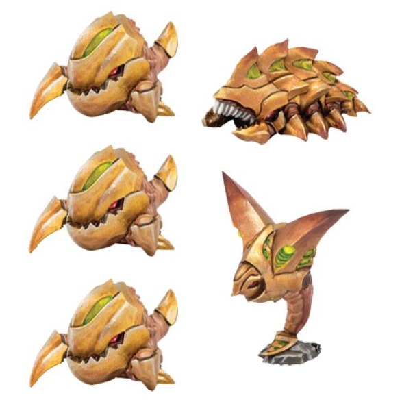 Monsterpocalypse (2018): Chompers, Destructomite & Explodohawk - Planet Eaters Unit (resin)
