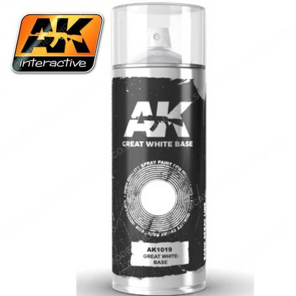 AK-Interactive: AK Sprays - Great White Base (150ml)
