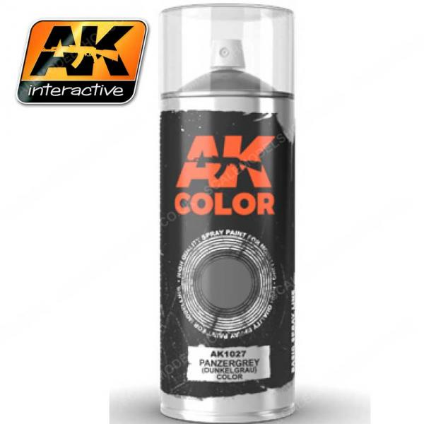 AK-Interactive: AK Sprays - Panzergrey (Dunkelgrau) (150ml)