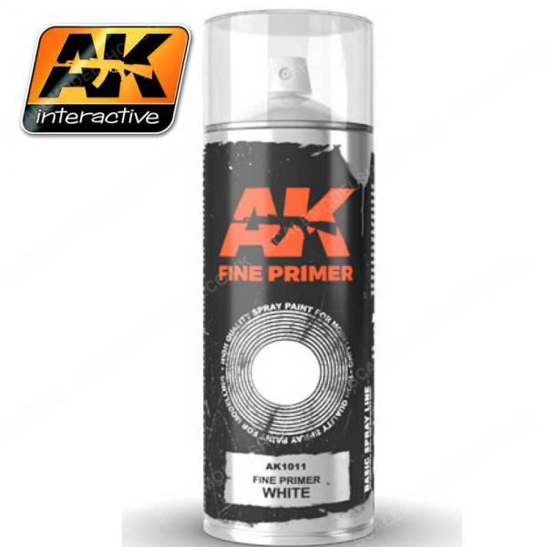 AK-Interactive: AK Sprays - Fine Primer White (200ml)