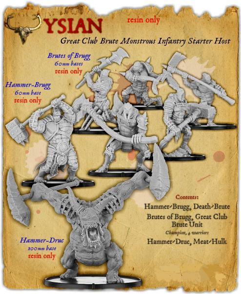 Darklands: The Ysian Great Club Brute Monstrous Infantry Starter Host (resin)