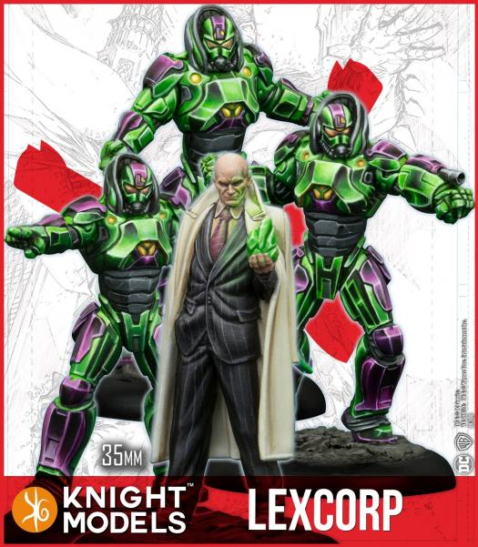 Batman Miniature Game: Lex Luthor and Lexcorp Troopers (Multiverse) (Resin)