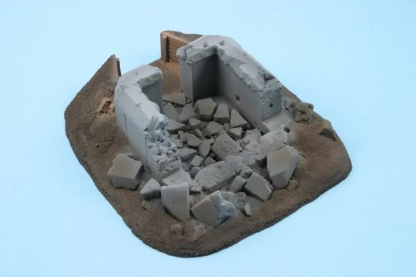 28mm Terrain: Bunker 33 - destroyed