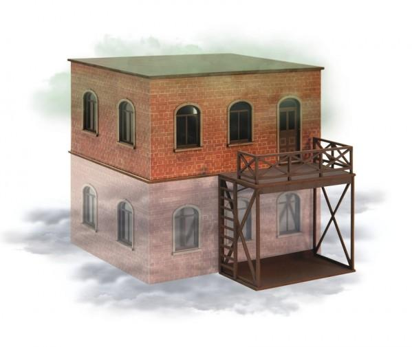 28mm Terrain: (Laser-cut Kit) Apartment House First floor (second-story)
