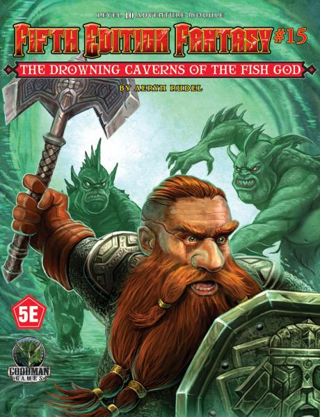 Dungeons & Dragons RPG: (Fifth Edition Fantasy) #15 Drowning Caverns of the Fish-God