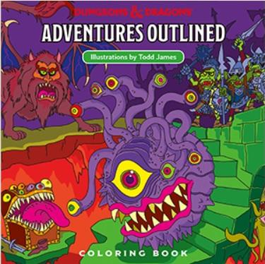 D&D: Dungeons and Dragons Adventures Outlined Coloring Book
