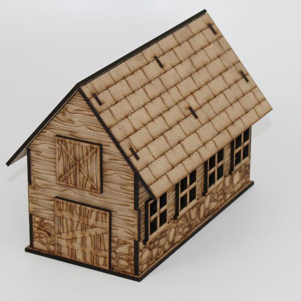 Laser Craft Workshop MDF Terrain: Abitha, the Barn