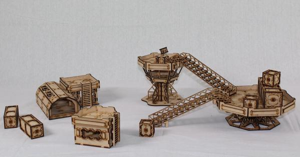 Laser Craft Workshop MDF Terrain: Sector 38 Frontier Port Bundle