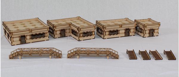 Laser Craft Workshop MDF Terrain: Secor 38 Hab Block Starter Set