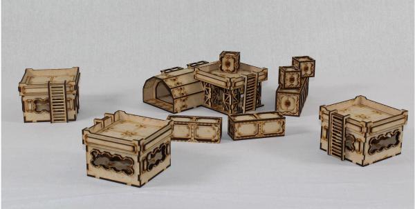 Laser Craft Workshop MDF Terrain: Sector 38 Outpost Zeta Bundle
