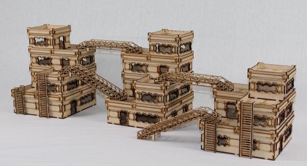 Laser Craft Workshop MDF Terrain: Sector 38 Mega-Block One Bundle