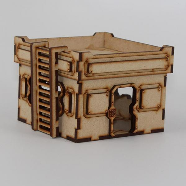 Laser Craft Workshop MDF Terrain: 4''x4'' Single Story Blockhouse