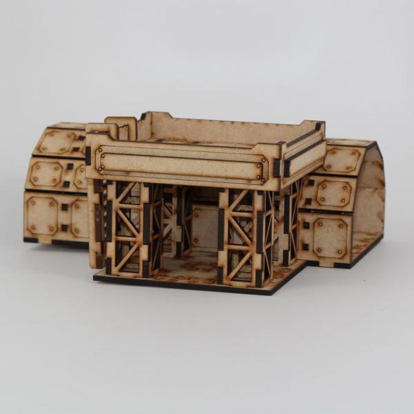 Laser Craft Workshop MDF Terrain: Sector 38 Supply Depot