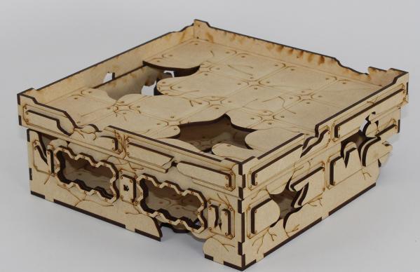 Laser Craft Workshop MDF Terrain: 8'' x 8'' Ruined Blockhouse