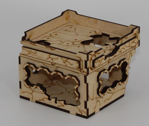 Laser Craft Workshop MDF Terrain: 4'' x 4'' Ruined Blockhouse
