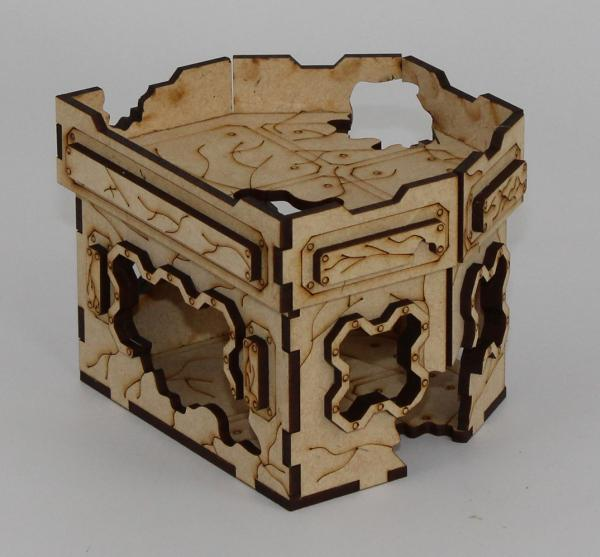 Laser Craft Workshop MDF Terrain: 4'' x 4'' Ruined Hex Hab