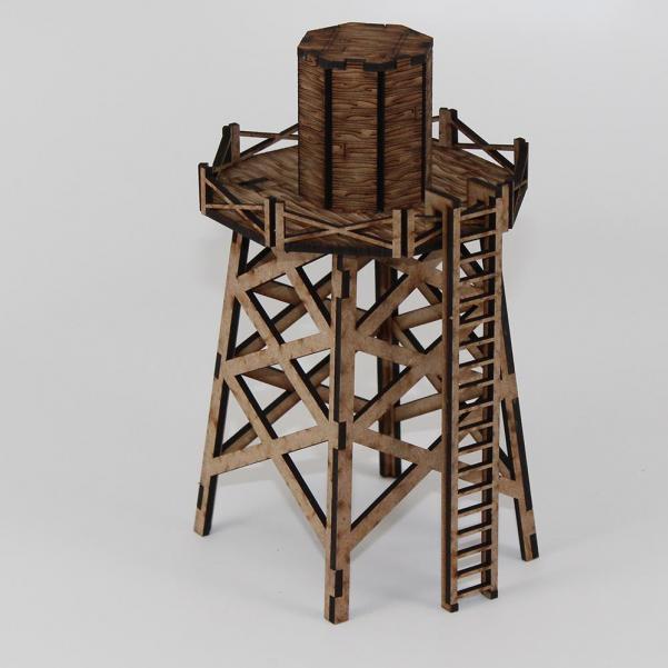 Laser Craft Workshop MDF Terrain: Water Tower