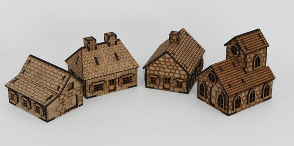 Laser Craft Workshop MDF Terrain: French Normandie Battleground Set (for 15mm)