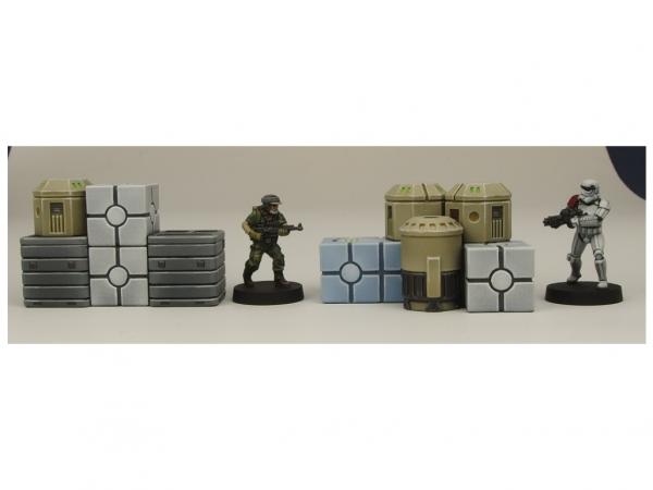 Micro Art Studio Terrain: Cargo Crates (5) (Star Wars Legion compatible)