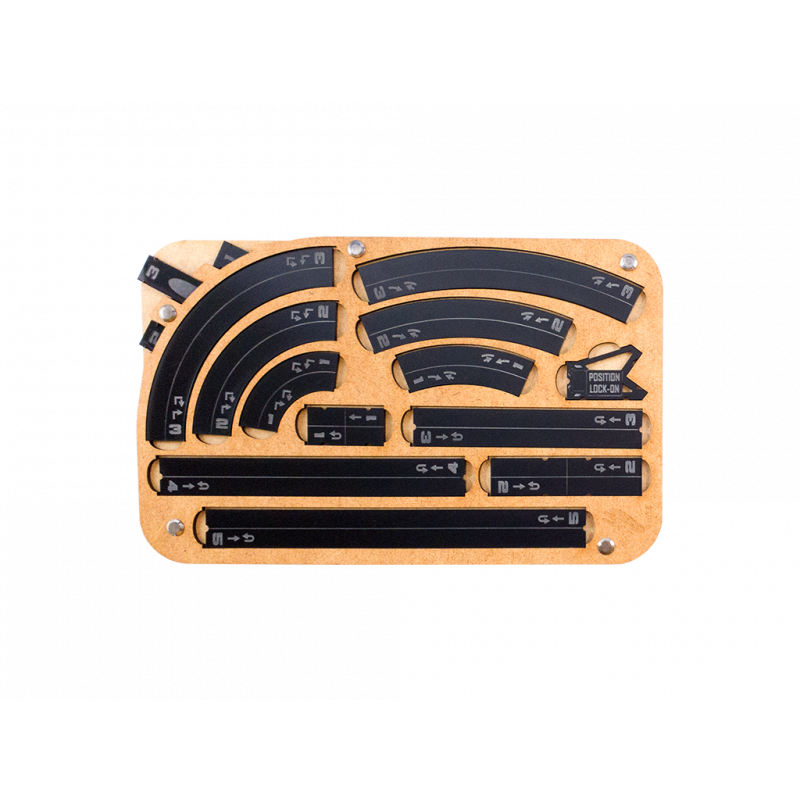 Miniature Tokens & Templates: Space Fighter Manouver Tray 2.0 - Black