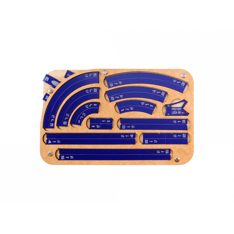 Miniature Tokens & Templates: Space Fighter Maneuver Tray 2.0 - Navy