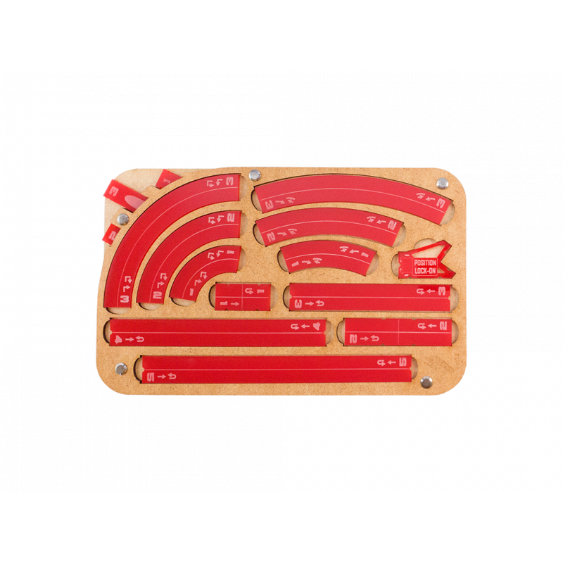Miniature Tokens & Templates: Space Fighter Manouver Tray 2.0 - Red