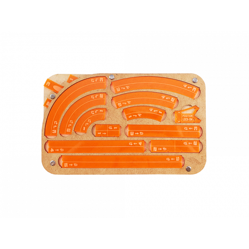 Miniature Tokens & Templates: Space Fighter Maneuver Tray 2.0 - Orange