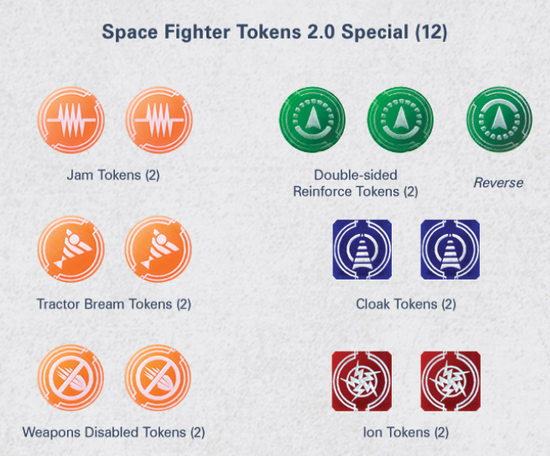 Miniature Tokens & Templates: Space Fighter Tokens 2.0 Special Set (12)