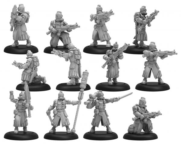 Warmachine: (Golden Crucible) Crucible Guard Infantry and CA (12) (metal/resin)