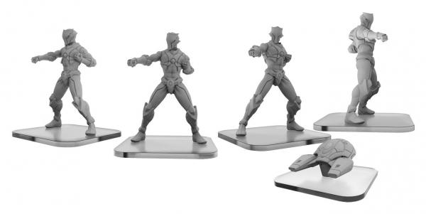 Monsterpocalypse: S-Type Shinobi & Interceptor - Shadow Sun Syndicate Unit (metal/resin)
