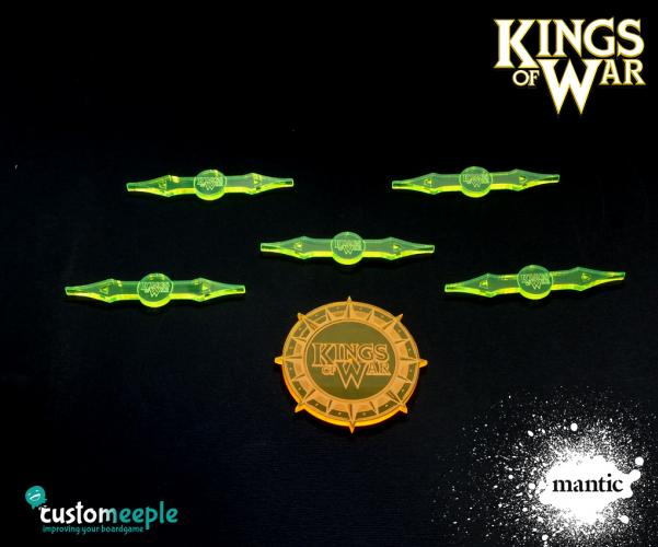 Counters & Tokens: Kings of War Deployment Area Markers (6 pcs)