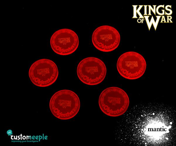 Counters & Tokens: Kings of War Acrylic Objective markers (7 pcs)