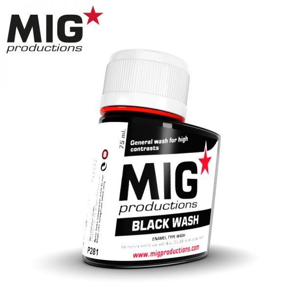 MIG Productions: (Washes & Effects) BLACK WASH (75ml)