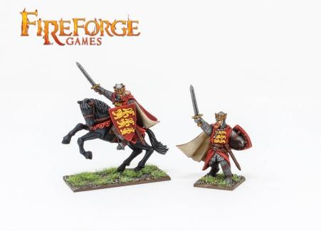 28mm Deus Vult: Richard the Lionheart (Mounted and on-foot)