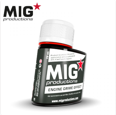 MIG Productions: (Washes & Effects) ENGINE GRIME EFFECT (75ml)