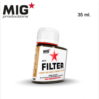 MIG Productions: (Filters) BROWN FOR DARK  & DESERT YELLOW (35ml)