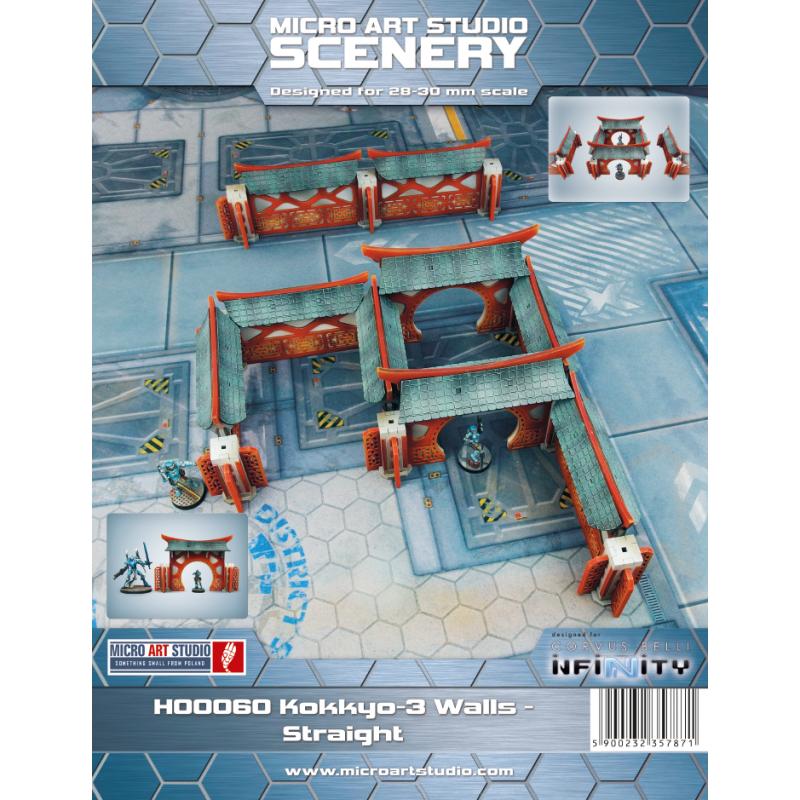 28mm Infinity Sci-Fi Terrain: Kokkyo 3 - Walls (Straight)